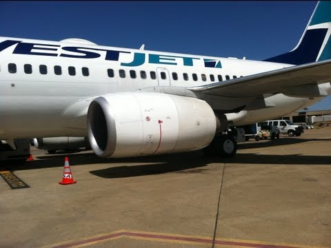 West Jet Inaugural Service to DFW Airport from Calgary