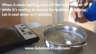Step 1: making the clear jello ( gelatin art for Asian recipe)