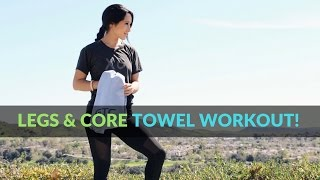 7 Exercise Towel Workout for Legs and Abs