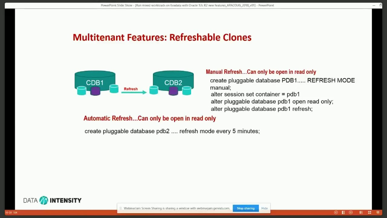 Run mixed workloads on Exadata with Oracle 12c R2 new features by Anuj Mohan