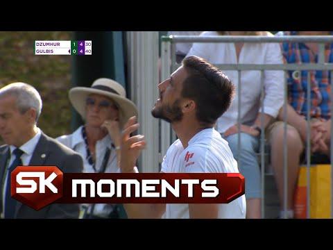 Damir Džumhur se Iznervirao Zbog Publike pa Pobesneo na Sudiju   SPORT KLUB Tenis