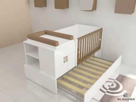 konver k416 cuna convertible alondra youtube. Black Bedroom Furniture Sets. Home Design Ideas