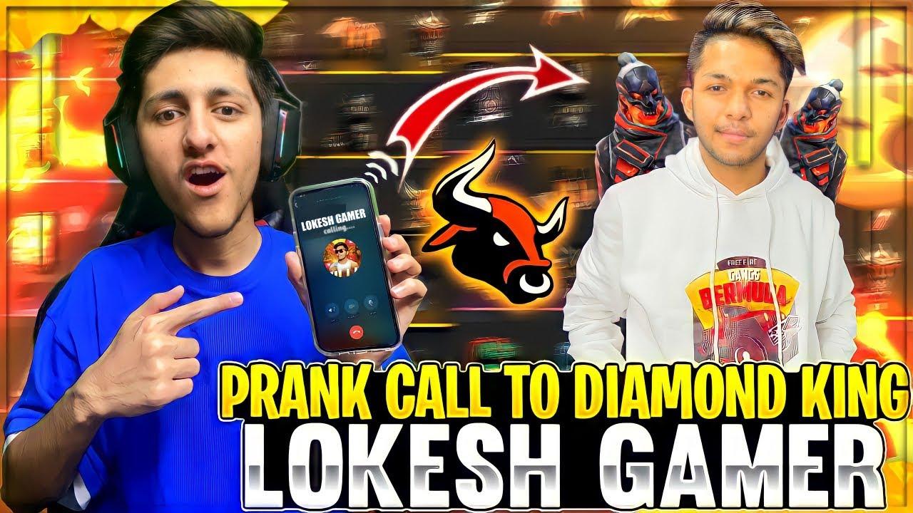 Prank Call On Lokesh Gamer😂 Asking Him For Dj Alok , I Phone 12 Pro Max Giveaway - Garena Free Fire