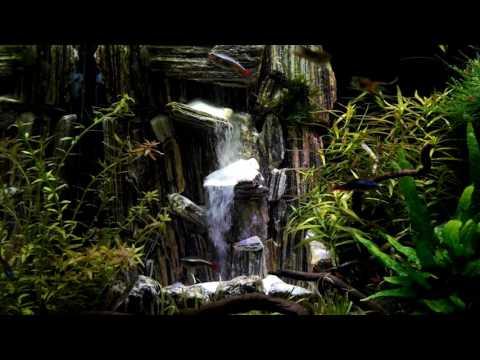 cascade de sable aquarium youtube