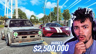$2,500,000 Budget Build in Need for Speed HEAT! (Ford GT, Silvia, Golf & More???)