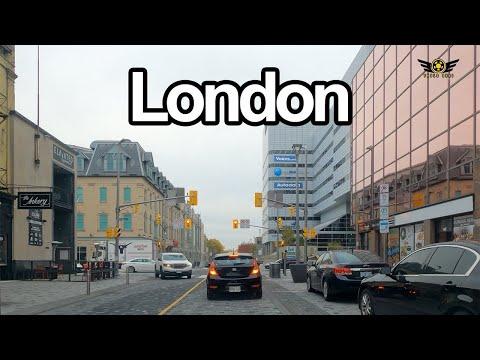 DOWNTOWN LONDON ONTARIO CANADA DRIVE (FALL 2020 4K)