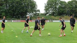 El Málaga CF realiza su última sesión de entrenamiento en Alemania