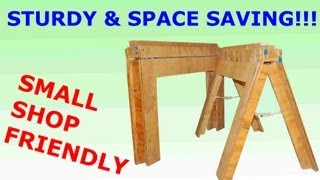 How To Build Folding Sawhorses Diy