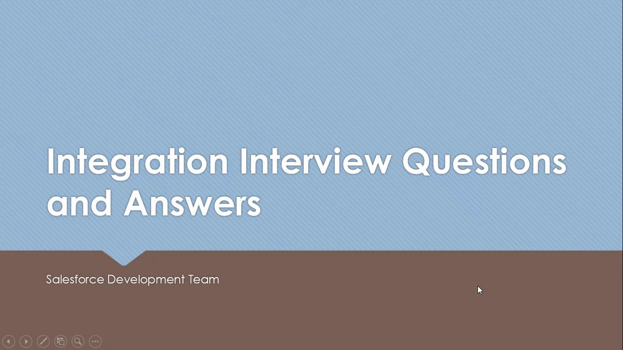 SALESFORCE DEVELOPER - Integration Interview Question and Answers ...