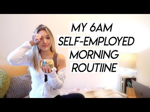MY 6AM SELF EMPLOYED MORNING ROUTINE | how I ACTUALLY work from home and be productive!