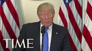 President Trump Repeats Unfounded Voter Fraud Claims At Election Integrity Meeting   TIME