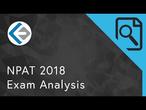NPAT 2018 Exam Analysis