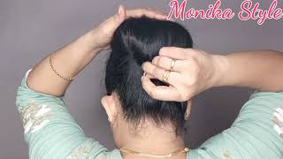 Beautiful Latest Juda Hairstyle with Rubberband for Summer for girls with long/short hair