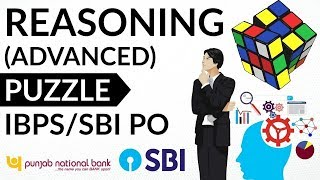 Puzzle (High Level) Set 34 for SBI PO / IBPS PO / Clerk / Bank PO / LIC / SSC CGL / CHSL / LDC / MTS