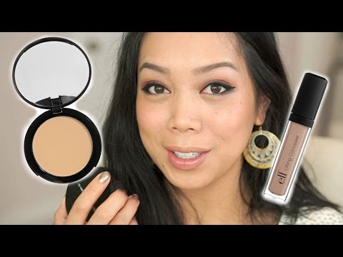 new-elf-hd-mattifying-cream-foundation-(oil-free)-&-hd-lifting-concealer-review---itsjudytime