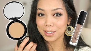 NEW ELF HD Mattifying Cream Foundation (oil free) & HD Lifting Concealer review - itsjudytime