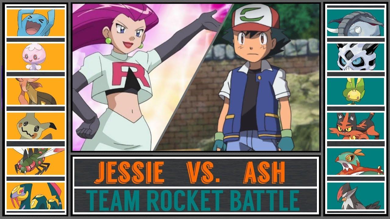 Ash vs. Jessie (Pokémon Sun/Moon) - Team Rocket Battle ...