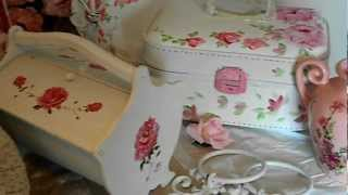 Yummy Pink Roses Shabby Cottage Chic Items for sale CHECK IT OUT on Etsy