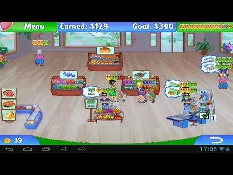 Lets Play Supermarket Mania 2 (02) New Grocery! New Problem