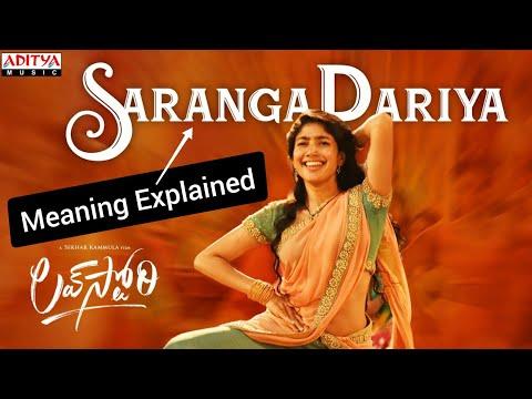 #SarangaDariya Meaning Explained | Sai Pallavi | Sekhar Kammula | Suddala Ashok Teja | #Shorts