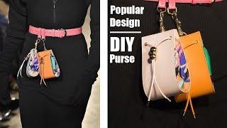 FAB DIY MINI BELT POUCH BAG // Fashion Design Mini Purse Bag