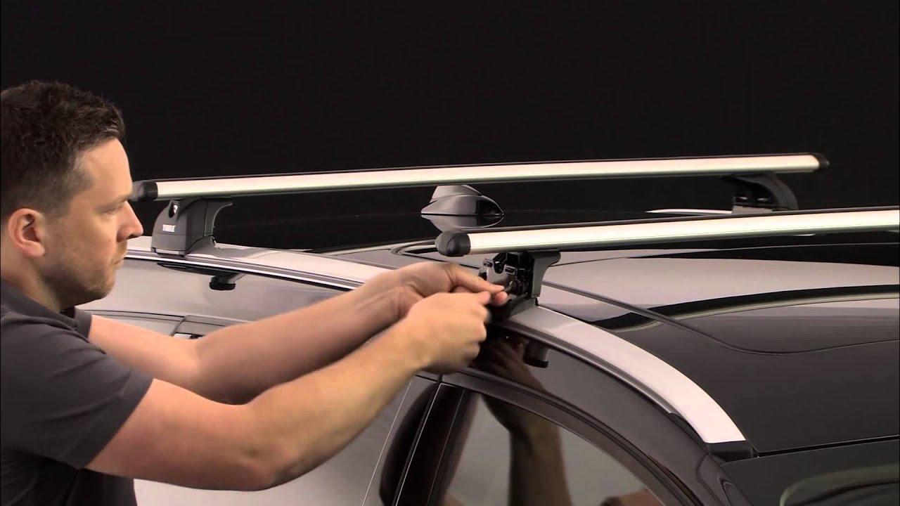 roof racks thule rapid system 753 flush rail youtube. Black Bedroom Furniture Sets. Home Design Ideas