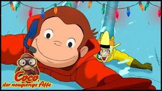 Coco der Neugierige Affe ❄️Weihnachten 🎁Antarktis-Expedition 🐵Ganze Folgen🐵Cartoons für Kinder
