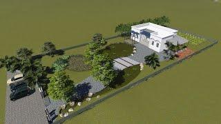 花蓮農舍庭園施工~魚菜共生的生態水池.