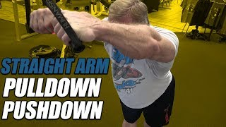Exercise Index - Straight Arm Pulldown Pushdown
