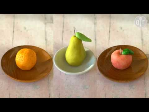 Fruits en pâte d'amande