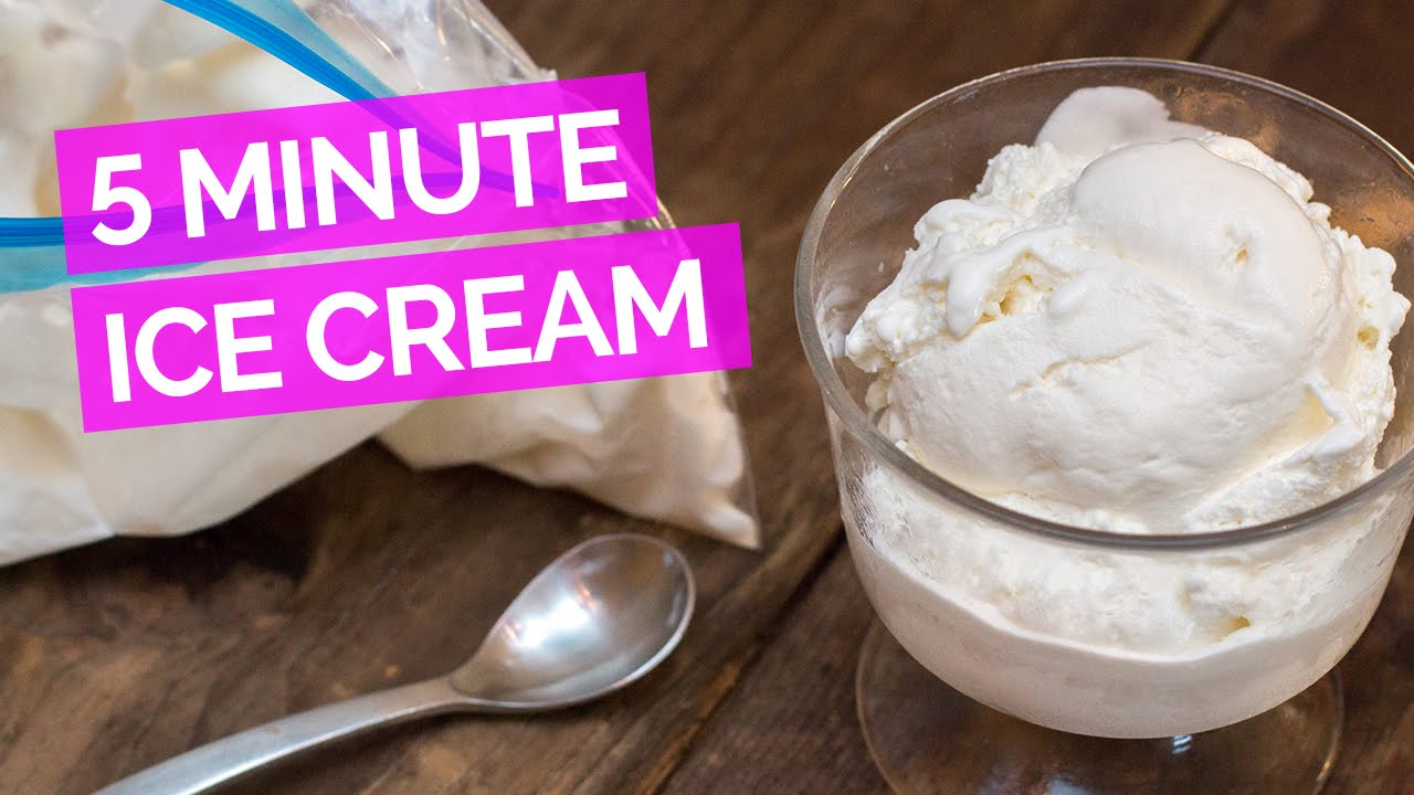 Five Minute Ice Cream Recipe — Dishmaps