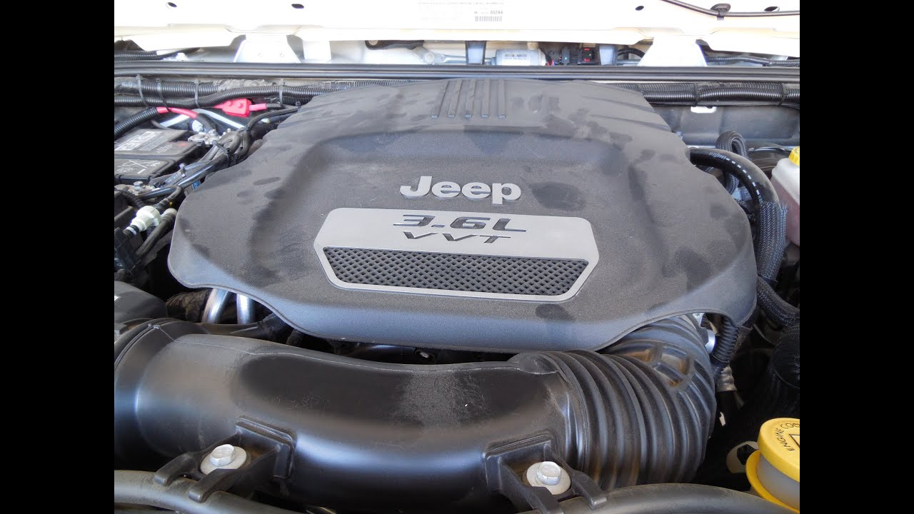 how to change your engine oil in your jeep wrangler 3 6l v6 rh youtube com Jeep Wrangler Pentastar Engine Problems Jeep Wrangler Engine Diagram