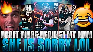 DRAFT WARS AGAINST MY MOM! SHE IS SORRY LOL!   MADDEN 17 DRAFT CHAMPIONS