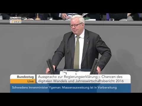 Bundestag: Michael Fuchs zum Jahreswirtschaftsbericht 2016 am 28.01.2016