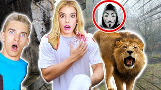 PROJECT ZORGO ATTACKED WITH LIONS IN ZOO!!! & PZ4 Ninja BATTLE Royale (Chad Wild Clay & Vy Qwaint)