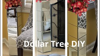 DIY HOME DECOR DOLLAR TREE/TALL MIRROR FLOOR VASE