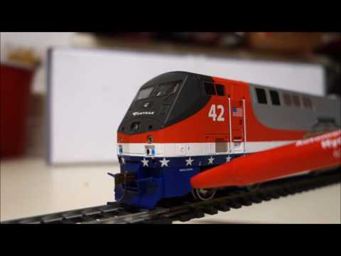 "Modelling Railway Train Track Plans-Superb Concepts For Realizing The Utmost From Your Model Train Review #4: Amtrak ""Veteran's Heritage Unit"" P42DC (HO Scale)"