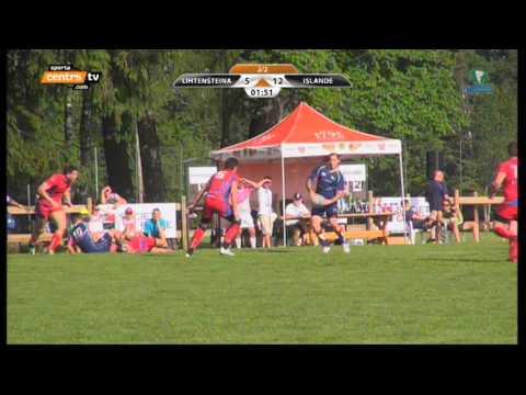 Ísland VS Lichtenstein in rugby 7's - FIRA-AER EU 2013