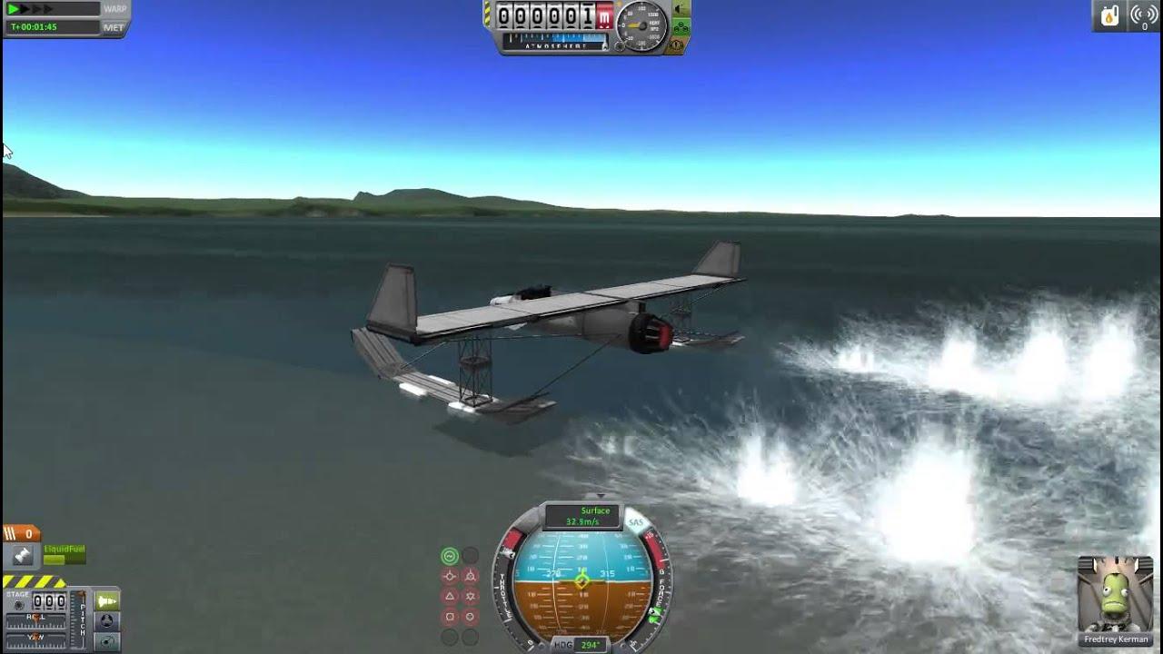 KSP Seaplane, no mods, stock parts