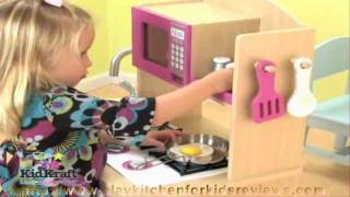 Kidkraft Pink Wooden Kitchen,  Play Kitchen Set