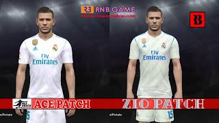 Patch PES 2018 PS3 Ace Patch vs Zio Patch for Real Madrid
