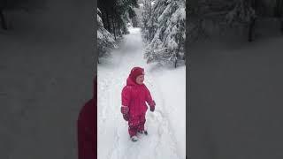 """Снегопад, а нашему малышу: """" никак""""."""