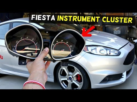 FORD FIESTA INSTRUMENT CLUSTER REMOVAL REPLACEMENT MK7 ST