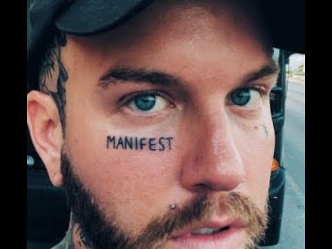 "Attila vocalist Chris Fronzak ""Fronz"" gets new face tattoo MANIFEST"