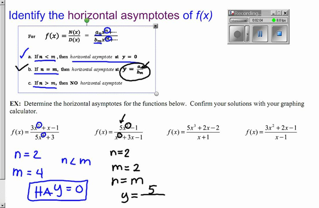 horizontal asymptote rules Calculus: limits and asymptotes notes, examples, & practice quiz  since (5, 5) is above the horizontal asymptote and to the light of the vertical asymptote.