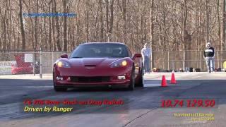 Ranger C6 Z06 10.74 Bone-Stock on DRs (Drag Radials)