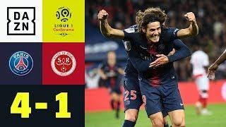 PSG problemlos nach Horrorstart - Edinson Cavani trifft doppelt: Paris - Reims 4:1 | Ligue 1 | DAZN