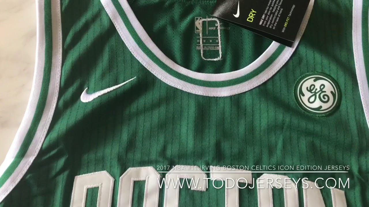 298973bd6 2017 nba  11 Irving boston celtics icon edition jerseys - YouTube