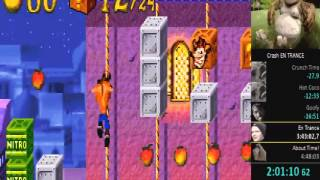 Crash Bandicoot N-Tranced [GBA] - 101% Speed Run in 3:34:13 (Live Commentary)