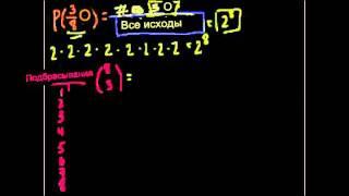 Теория вероятностей с использованием сочетаний 1